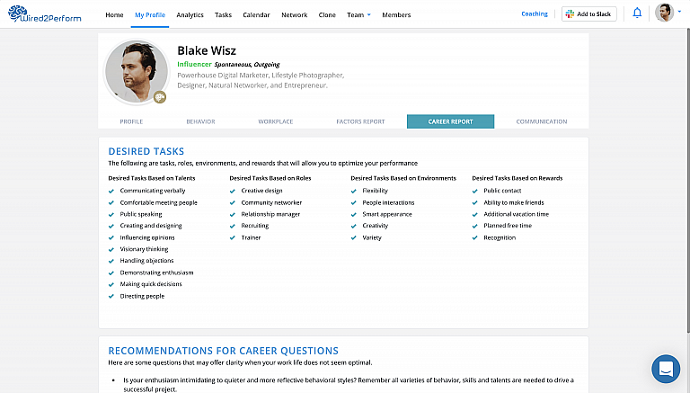 Careerreport